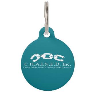 C.H.A.I.N.E.D. Inc. Logo Dog Tag (White Font)