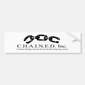 C.H.A.I.N.E.D. Inc. Pegatina para el parachoques Pegatina Para Auto