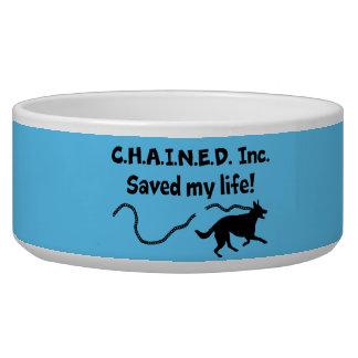 C.H.A.I.N.E.D. Inc. Saved My Life Dog Bowl