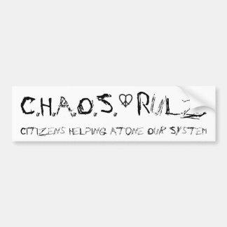 C.H.A.O.S. - Rulz Bumper Sticker
