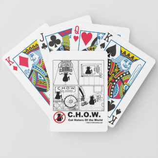C.H.O.W. Cat Haters Playing Cards