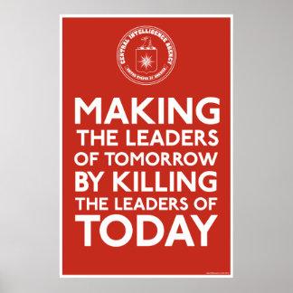 C.I.A. Impresión de los líderes Póster