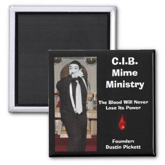 C.I.B. El ministerio del Mime Imanes De Nevera