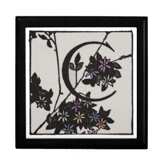 C Initial Cap Decorative Floral Design Vintage Gift Box