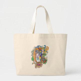C, initial, monogram, wedding large tote bag