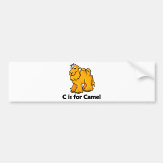 C is for Camel Bumper Sticker