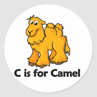 C is for Camel Classic Round Sticker