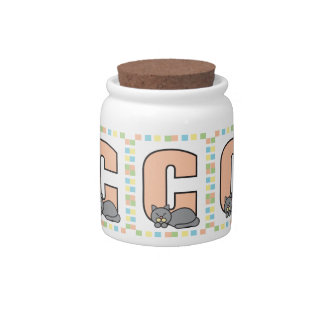 C is for Cat Candy Jars