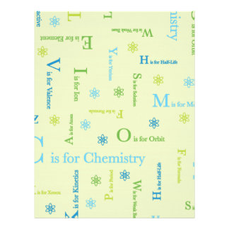 C is for Chemistry Customized Letterhead
