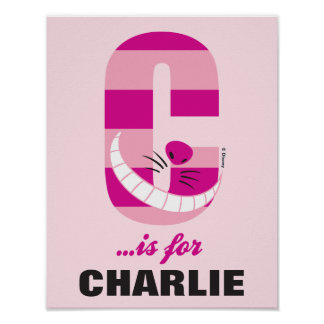 C is for Cheshire Cat | Add Your Name Poster