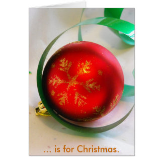 C is for Christmas Greeting Card