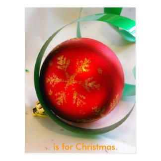 C is for Christmas Postcard