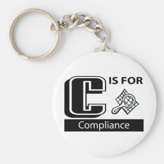 C Is For Compliance Basic Round Button Keychain