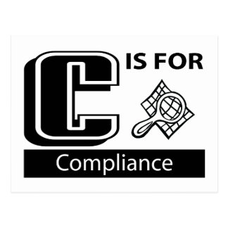 C Is For Compliance Postcard