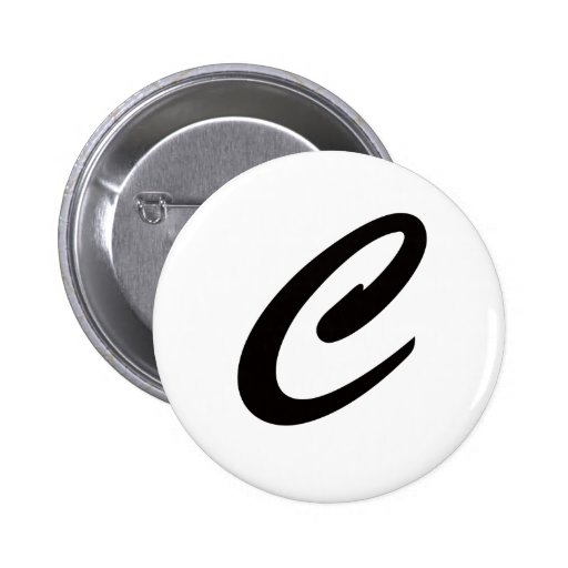 C is For Cookie 2 Inch Round Button