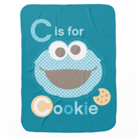C is for Cookie Baby Swaddle Blankets