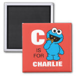 C is for Cookie Monster 2 Inch Square Magnet