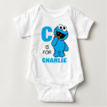C is for Cookie Monster | Add Your Name Baby Bodysuit