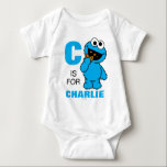 "C is for Cookie Monster | Add Your Name Baby Bodysuit<br><div class=""desc"">Personalize this fun Cookie Monster design by adding your name and first letter. &#169; 2014 Sesame Workshop. www.sesamestreet.org</div>"