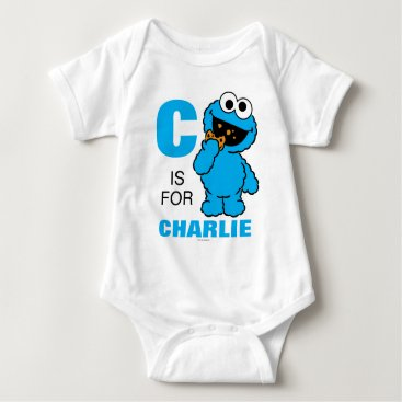 SesameStreet C is for Cookie Monster | Add Your Name Baby Bodysuit