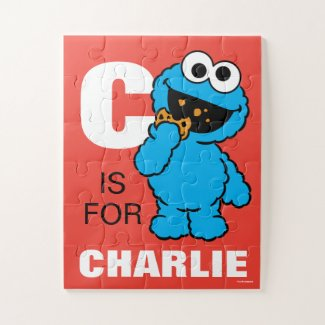 C is for Cookie Monster | Add Your Name Jigsaw Puzzle