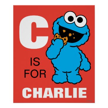 SesameStreet C is for Cookie Monster | Add Your Name Poster