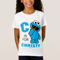 C is for Cookie Monster | Add Your Name T-Shirt