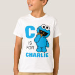 """C is for Cookie Monster   Add Your Name T-Shirt<br><div class=""""desc"""">Personalize this fun Cookie Monster design by adding your name and first letter. &#169; 2014 Sesame Workshop. www.sesamestreet.org</div>"""