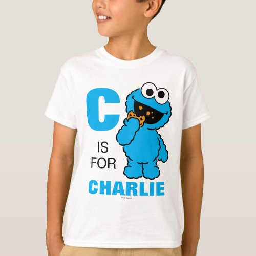 C is for Cookie Monster  Add Your Name T_Shirt