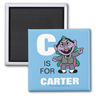 C is for Count von Count 2 Inch Square Magnet