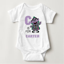 C is for Count von Count | Add Your Name Baby Bodysuit