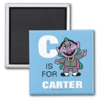 C is for Count von Count | Add Your Name Magnet