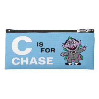 C is for Count von Count | Add Your Name Pencil Case