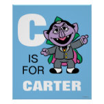 C is for Count von Count | Add Your Name Poster