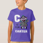 """C is for Count von Count   Add Your Name T-Shirt<br><div class=""""desc"""">Personalize this fun Count von Count design by adding your name and first letter. &#169; 2014 Sesame Workshop. www.sesamestreet.org</div>"""