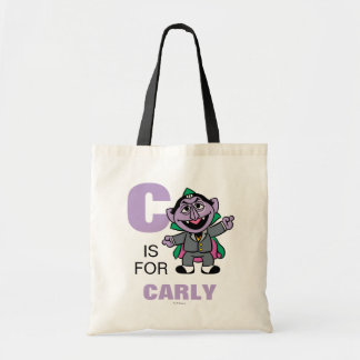 C is for Count von Count | Add Your Name Tote Bag
