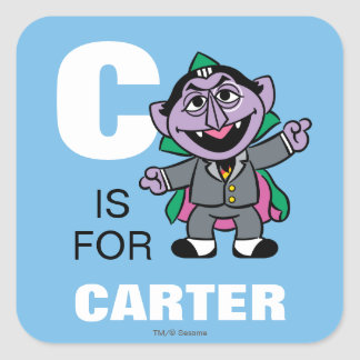 C is for Count von Count Square Sticker