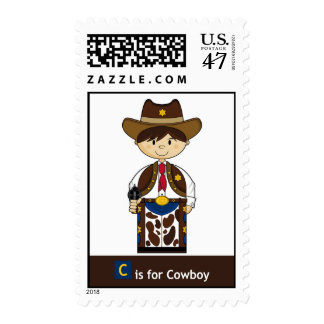 C is for Cowboy Cute Stamp