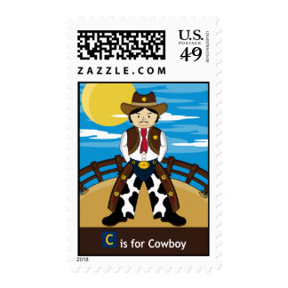 C is for Cowboy Sheriff Stamp