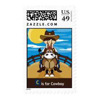 C is for Cowboy Stamp