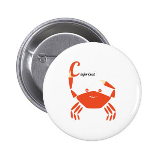 C Is For Crab Buttons