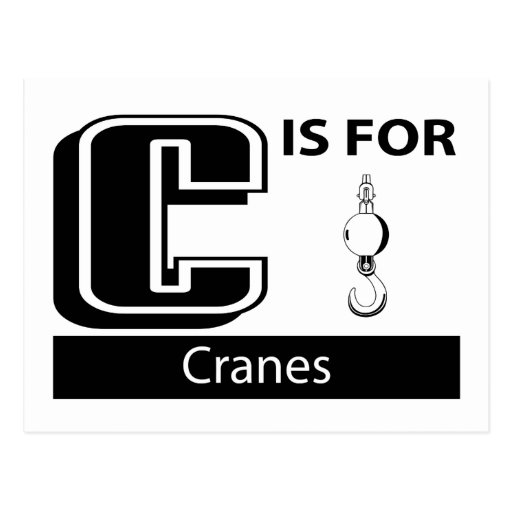C Is For Cranes Postcard