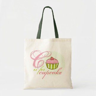 C Is For Cupcake Canvas Tote