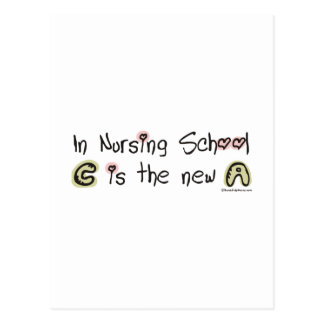 C is the new A in Nursing School Postcard