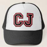 "C J Monogram Trucker Hat<br><div class=""desc"">C J Monogram Trucker Hat</div>"