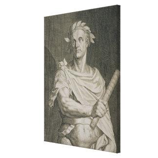 C. Julius Caesar (100-44 BC) Emperor of Rome engra Canvas Print