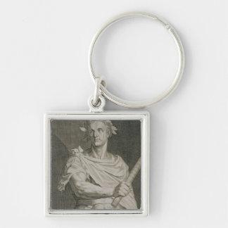 C. Julius Caesar (100-44 BC) Emperor of Rome engra Keychain