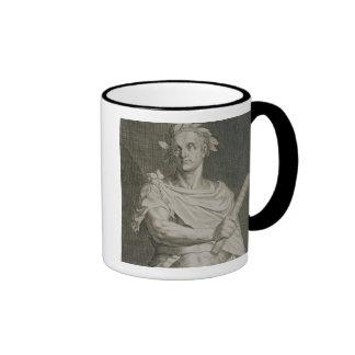 C. Julius Caesar (100-44 BC) Emperor of Rome engra Ringer Coffee Mug