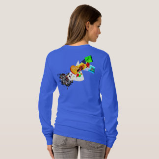 C.L.R: DOnt Forget: THE pizza and BEER Lady long S T-Shirt