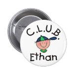C.L.U.B. Pin redondo de Ethan
